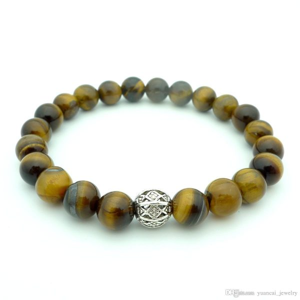 Earth Tone Bead Bracelet