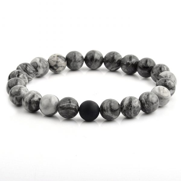Marble Ying Yang Bead Bracelet