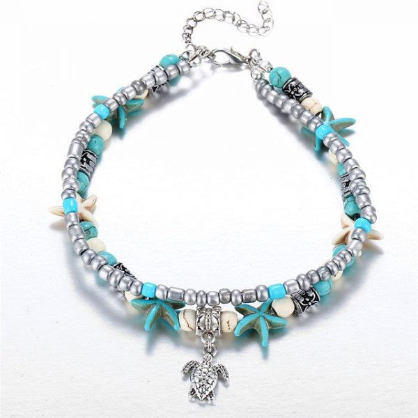 Silver Tutrle Charm Bracelet